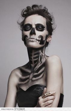 There's one word for this Halloween makeup...DEADLY!