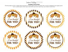 Thankful tag-free thankful for you free printable tags for teachers gifts, neighbors gifts, and gifts for friends around thanksgiving - tell others I am thankful for you with free printables - harvest colors for fall