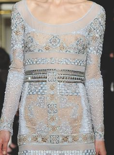pastel colors with golden embroidery. Emilio Pucci Milan Fall 2012