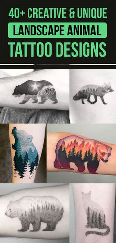 40+ Creative & Unique Landscape Animal Tattoos Designs | TattooBlend