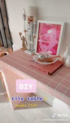 Room Ideas Bedroom, Diy Bedroom Decor, Pastel Room, Pastel Decor, Cute Diy Room Decor, Tile Tables, Diy Furniture, Laminate Furniture, Retro Furniture