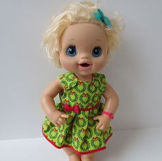 Handmade Doll Clothes Christmas Dress Fits by NecessaryCuteness2
