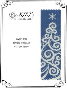 Pattern peyote bracelet for christmas time Sacred by KikisBeadArt