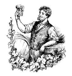 vintage beer line drawings - Google Search