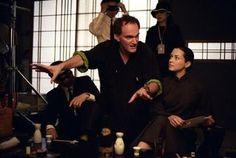 Director Quentin Tarantino and Actress Julie Dreyfus in Kill Bill: Vol. 1 (2003)