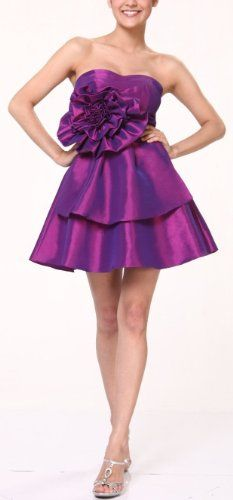 Zeilei 1337 Strapless Sweet 16 Short Homecoming « Dress Adds Everyday