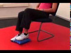 FiTSiT  Kissen  Übung für Beinmuskulatur  im Sitzen