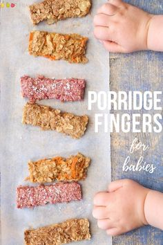 Porridge Fingers For Baby Led Weaning 3 Ways Raspberry, Carrot And . Porridge Fingers for Baby Led Weaning 3 ways Raspberry, Carrot and - Kids and parenting Baby Snacks, Toddler Snacks, Toddler Dinners, Baby Breakfast, Perfect Breakfast, Blw Breakfast Ideas, Fingerfood Baby, Baby Food Recipes, Cooking Recipes