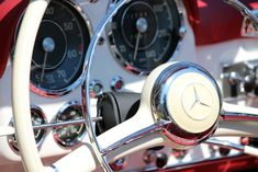 1963 Mercedes 190SL Steering Wheel. Restored by Palm Beach Classics. Worldwide recognition