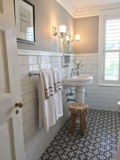 Is your home in need of a bathroom remodel? Give your bathroom design a boost with a little planning and our inspirational 65 Most Popular Small Bathroom Remodel Ideas on a Budget in 2018 House Bathroom, Bathroom Tile Designs, Farmhouse Bathroom Decor, Small Bathroom, Bathrooms Remodel, Amazing Bathrooms, Bathroom Design, Bathroom Flooring, Tile Bathroom