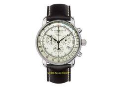 Online Shop für 24 Stunden Uhren - Fliegeruhren - Chronographen - Automatikuhren - Trenduhren - Zeppelin Chrono Alarm - 8680-3 - Serie 100 Jahre Zeppelin 24 Hour Clock, Pointers, Stainless Steel
