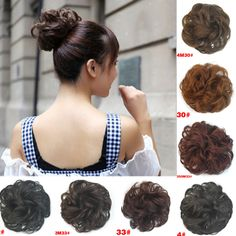 Sale 1pc 10Colors Women Fashion Synthetic Hair Chignon Natural Hair Bun Extension Curly Scrunchie Hair Accesories HairBand