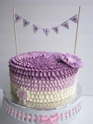 Image result for ruffle buttercream cake