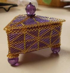 Beaded Triangle Boxes - JEWELRY AND TRINKETS