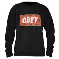 OBEY Magic Carpet sweat-shirt crew-neck black - heather grey 69€ #obey #sweat #sweater #sweatcrew #crewneck #fleece #winter #pull #pullover #skate #skateboard #skateboarding #streetshop #skateshop @April Cochran-Smith Gerald Skateshop