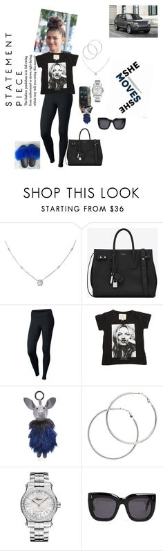 """""""Sim Simma #lazydays"""" by foreverslayy ❤ liked on Polyvore featuring Ice, Yves Saint Laurent, NIKE, ElevenParis, Kendall + Kylie, Melissa Odabash, Chopard and STELLA McCARTNEY"""