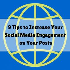 Learn 9 tips that will increase your social media engagement in your posts. A few small tweaks to your social media posts will make a huge difference. #socialmediamarketing #onlinemarketing #facebookmarketing