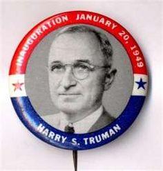 Truman campaign button.