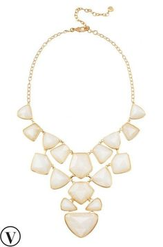 Our mosaic piece combines a quartz necklace & chunky statement necklace for something even better. Wear 3 different ways!