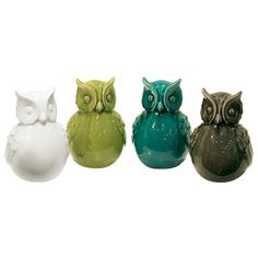 I pinned this 4 Piece Owl Statuette Set from the Adra Designs event at Joss and Main!