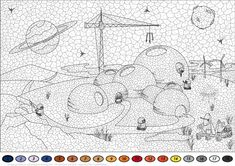 Colonisation of Mars Color by Number from Color by Number Worksheets category. Select from 25238 printable crafts of cartoons, nature, animals, Bible and many more.