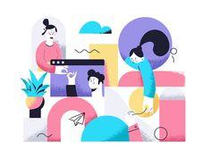 Fashion Illustration Design Communication by Zara Magumyan - concept for sale Website Illustration, People Illustration, Business Illustration, Flat Illustration, Character Illustration, Graphic Design Illustration, Digital Illustration, Web Design, Flat Design