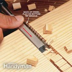 How to Use a Wood Chisel