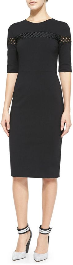 Raoul Ruthie Lattic-Panel Sheath Dress 629052d650c1