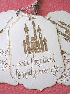 Castle Cinderella Wedding Gift Tags by CharonelDesigns on Etsy, $4.75