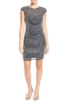 Lace & Beads Embellished Body-Con Dress available at #Nordstrom