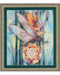 """Dragonfly Fairy       by: Kustom Krafts ProductType:   Cross Stitch Patterns Category:   Fairies & Pixies SKU: 09-1425 Stitch Count: 273w x 224h Project Size: 19.5"""" x 16.0"""" on 14cnt"""