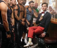 Kurt Hummel / Chris Colfer in a bar