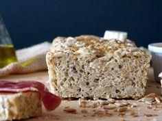 Pan con pipas y semillas de lino