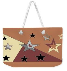 Weekender Tote Bag of 'Texas Stars 1' by Sumi e Master Linda Velasquez.