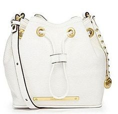 Brahmin Lexi White Nepal Crossbody Shoulder Drawstring Bag