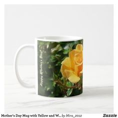 Shop Happy Birthday, Mom Mug with Yellow + White Roses created by Personalize it with photos & text or purchase as is! Happy 75th Birthday, Birthday Mug, Mother Birthday, Yellow Mugs, Mother's Day Mugs, Dear Mom, Mom Mug, Personalized Mugs, Custom Mugs