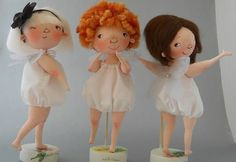 Preciosas Muñecas trillizas para hacer en tela, patrones y tutorial básico para guiar y orientarte como hacerlas. Realmente bonitas y muy originales.
