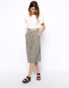 ASOS Culotte with Wrap Pleat Front