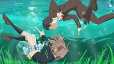 I got super inspired after watching the movie. I read the manga beforehand, but the actual animation is just-- ugh! Koe no Katachi - Underwater Sad Anime, Anime Love, Kawaii Anime, Manga Anime, Anime Art, Anime Films, Anime Characters, A Silent Voice Manga, Koe No Katachi Anime