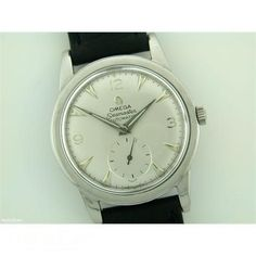 1950 Gents Omega Seamaster steel automatic on strap #omega #watches #vintage #jeweller #fashion