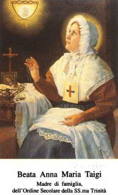 Beata Ana María Taigi  madre de familia  1769-1837