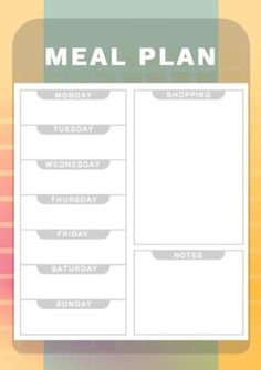 Shop 'til you drop with this colorful shopping and meal planner. Insert your own text and images to personalize the design. Food Planner, Drop, Colorful, Meals, How To Plan, Shopping, Design, Meal