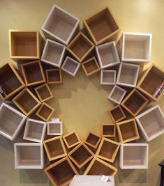 Once thought of as an organizational necessity hidden behind closed doors, shelves have come out of the closet and made a grand entry into the design Wood Projects That Sell, Diy Wood Projects, Diy Bookshelf Design, Diy Shelving, Handmade Home Decor, Diy Home Decor, Showroom Interior Design, Study Room Design, Unique Shelves