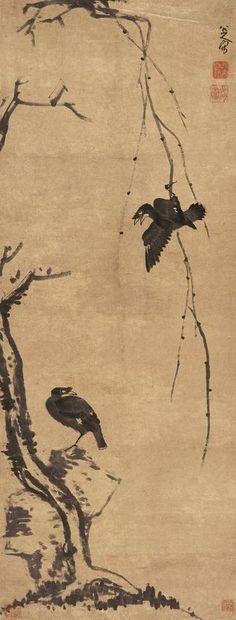 柳条八哥图 Bada Shanren (八大山人)