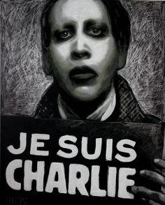 #CharlieHebdo #JeSuisCharlie #колхуи #MarilynManson #art Marilyn Manson