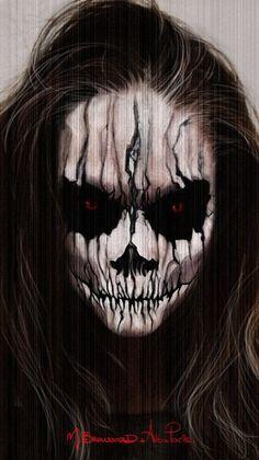 20_Creepiest_Halloween_Makeup_Ideas_11.jpg (710×1264)
