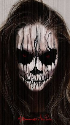 Cursed demon sfx makeup idea that is sure to scare the crap out of little kids. Description from pinterest.com. I searched for this on bing.com/images