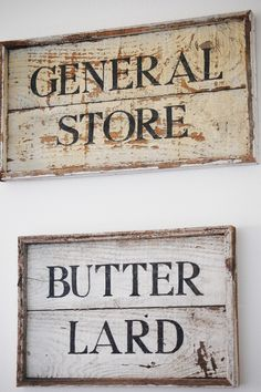 butter lard wood kitchen sign