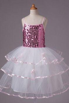 Tiered Tulle Romantic Fancy Summer Church Flower Girl Dress $94.99
