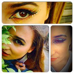 Tropical  Eye make up Editorial fashion makeup